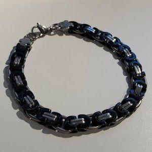 """Sterling silver """"gucci"""" link bracelet"""